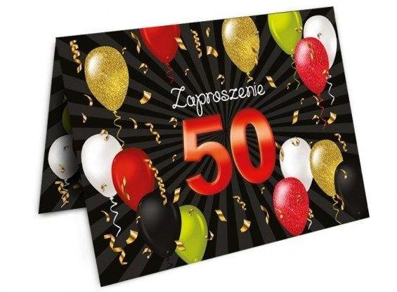 Zaproszenia na 50 urodziny z kopertami 10 sztuk ZX6809-10