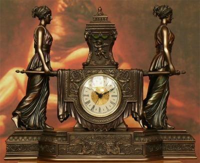 Barokowy zegar Lektyka