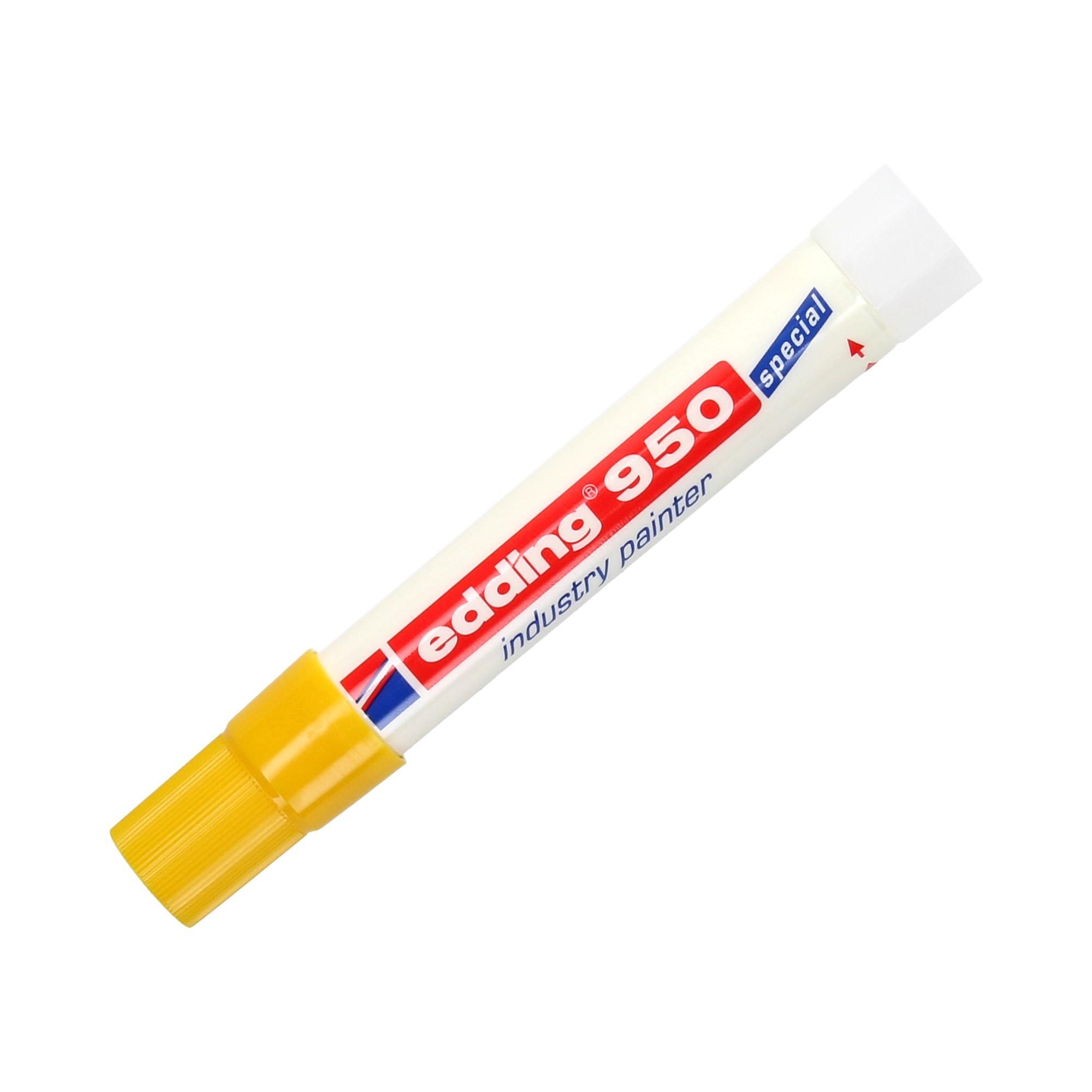Marker przemysłowy 10.0mm żółty okrągły Edding 950
