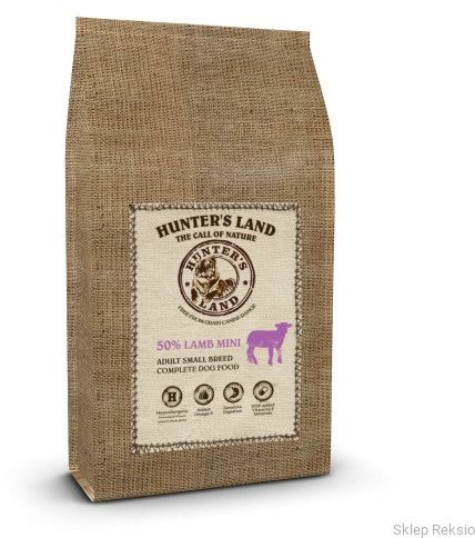 HUNTER''S LAND MINI Grain Free 50% Lamb 2kg