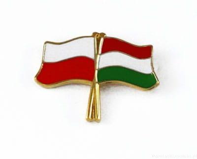 Flaga Polska - Węgry, przypinka