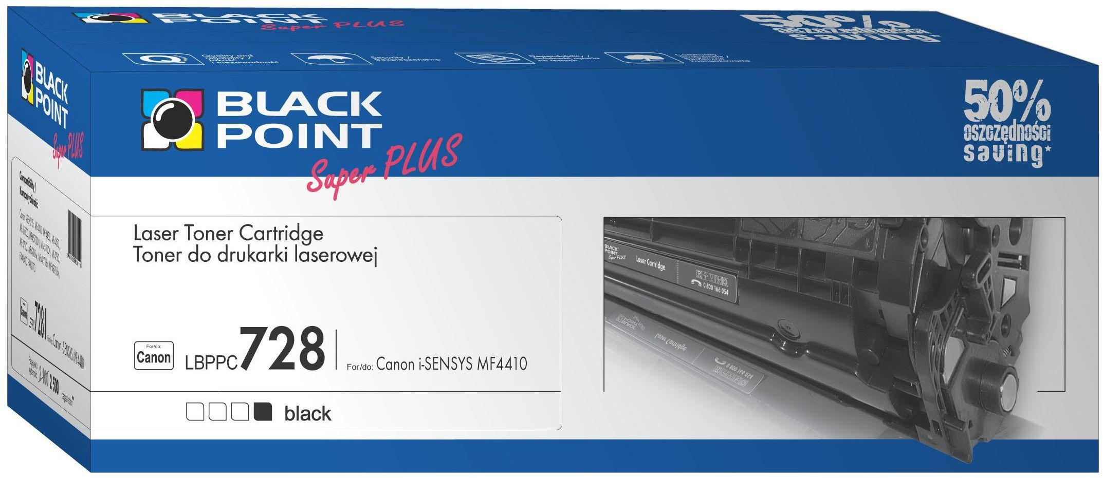 BLACK POINT LBPPC728 / CRG-726 (black)