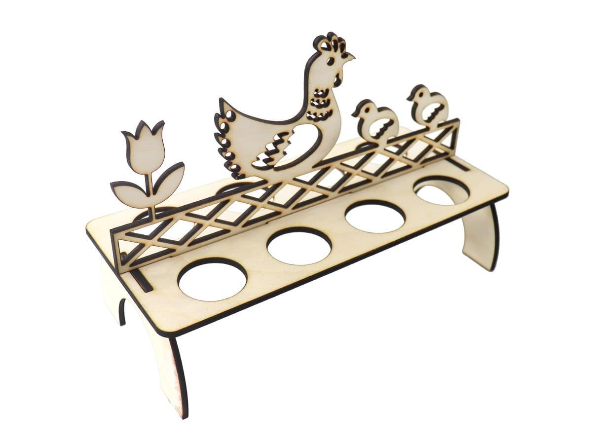 Drewniana podstawka pod jajka na Wielkanoc