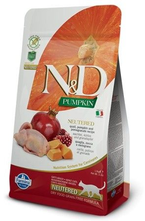 N&D CAT PUMPKIN NEUTERED QUAIL & POMEGRANATE 300G