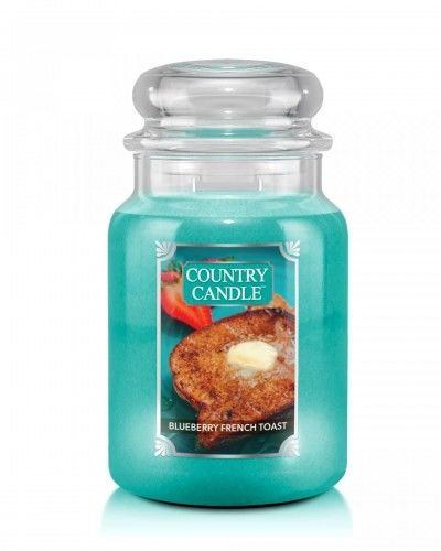 Country Candle - Blueberry French Toast - Duży słoik (680g) 2 knoty