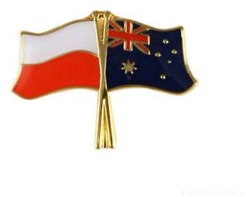 Flaga Polska - Australia, przypinka