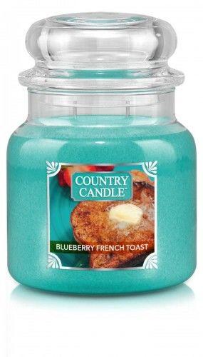 Country Candle - Blueberry French Toast - Średni słoik (453g) 2 knoty