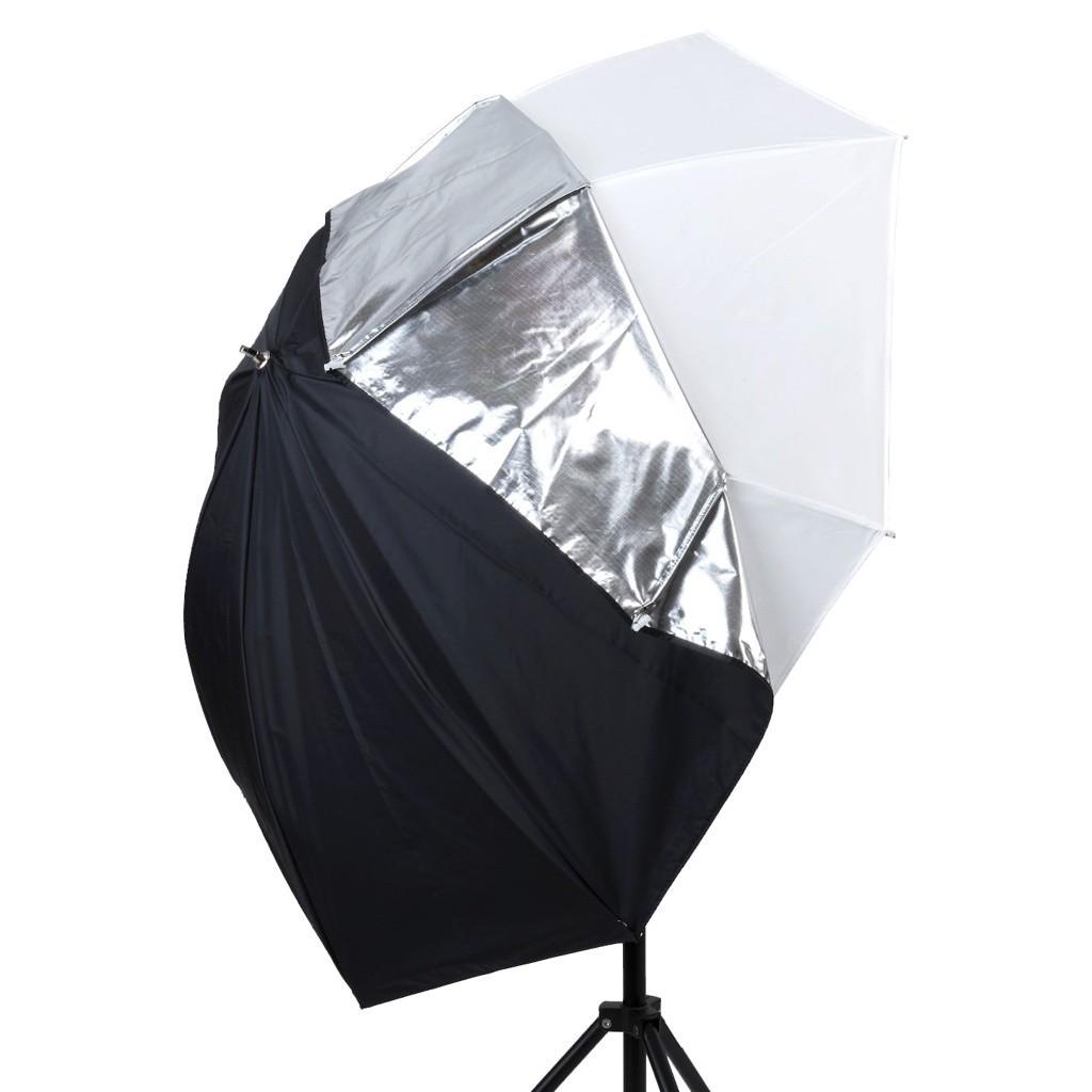 Lastolite LL LU4537F - parasolka fotograficzna All In One 99cm srebrno biała