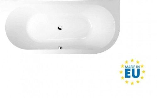 Wanna asymetryczna 175x80x47 cm, biała, akrylowa, MADE IN UE, VIVA