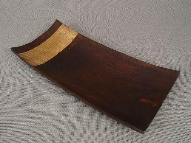Patera na owoce - Drewniana - 18x40,5x5cm