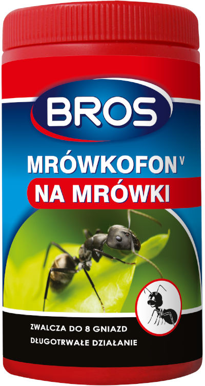 Trutka na mrówki i gniazda. Granulat na mrówki Bros Mrówkofon 60g.