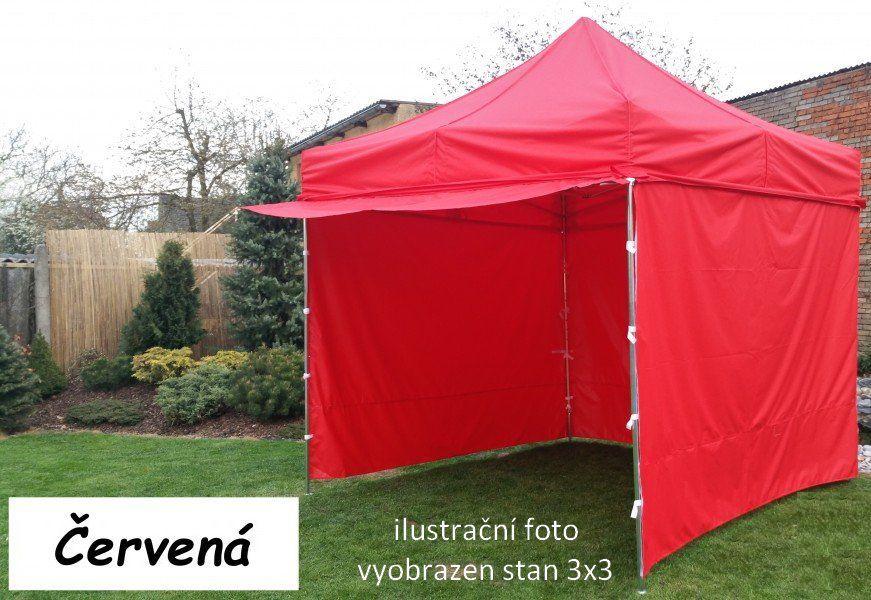 Namiot ogrodowy PROFI STEEL 3 x 6 czerwony