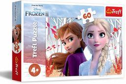 Trefl Zaczarowany Świat Anny i Elsy Puzzle 60 Elementów Frozen 2 o Wysokiej Jakości Nadruku dla Dzieci od 4 lat