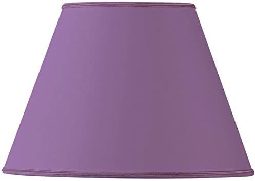 Klosz lampy z materiału, stożkowy, 25 x 13 x 18 cm, fioletowy