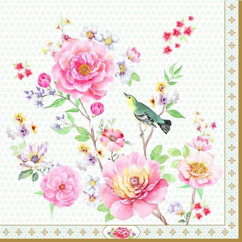 SERWETKI PAPIEROWE Ptak wśród kwiatów - 414 ADAY