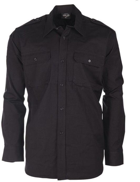 Koszula taktyczna Mil-Tec Ripstop Black D/R (10915002)