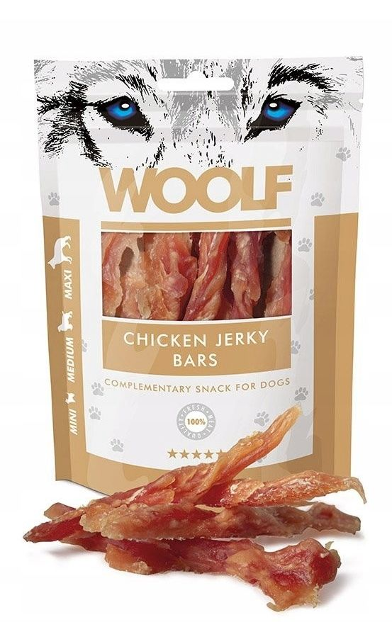 WOOLF - Przysmak jerky bars chicken 100g