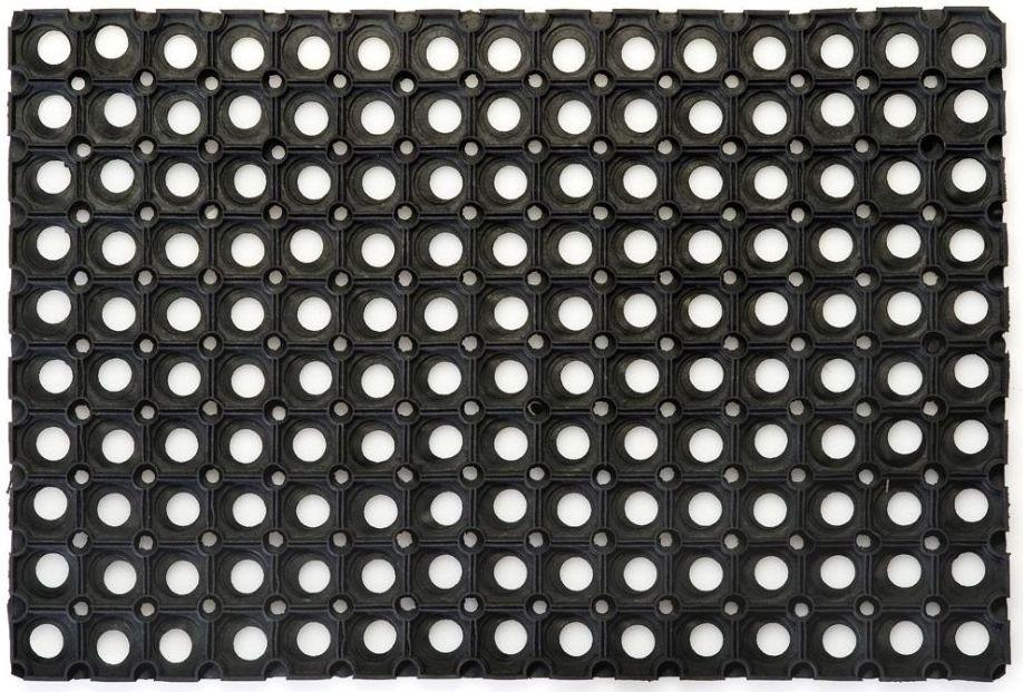 Wycieraczka gumowa zewnętrzna / wewnętrzna 80x120 cm Wycieraczka ażurowa, Gumowa mata