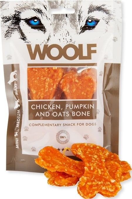 WOOLF - Przysmak chicken/pumpkin/oats 100g