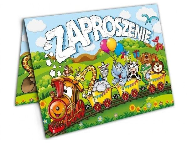 Zaproszenia na urodziny z kopertami 10 sztuk ZX6813-10