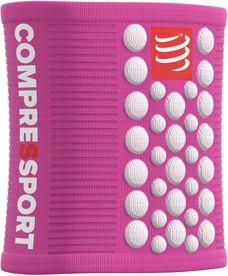 COMPRESSPORT Frotka na nadgarstek Sweatband różowo-biała