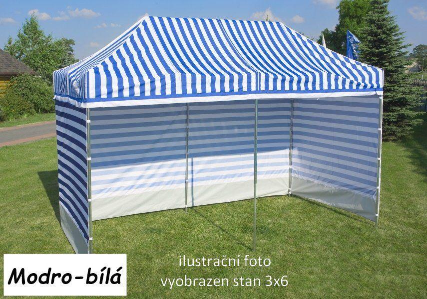 Namiot ogrodowy PROFI STEEL 3 x 6 - niebiesko-biały