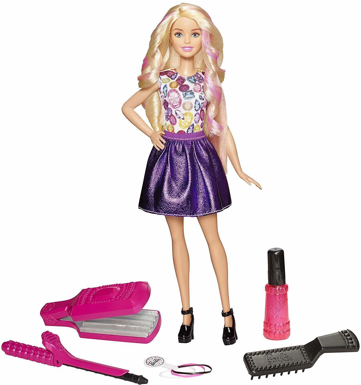 Mattel Barbie DWK49 Zestaw do Zabawy Z Falami i Lokami, Wielokolorowy