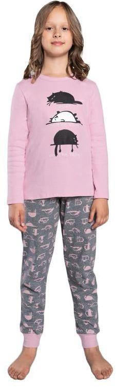 Piżama dziewczęca Dima różowa98