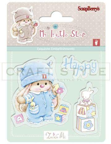 Stempel ScrapBerry s - Bunny My Little Star - Bunny Birthday