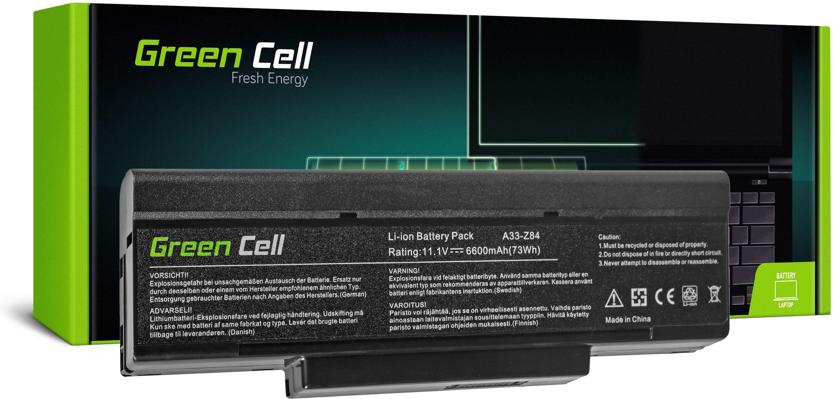Powiększona Bateria Green Cell BTY-M66 M660NBAT-6 do COMPAL FL90 FL91 FL92 HEL80 IFL90 JFL92 JHL90 MSI GE600 GT740 GX740