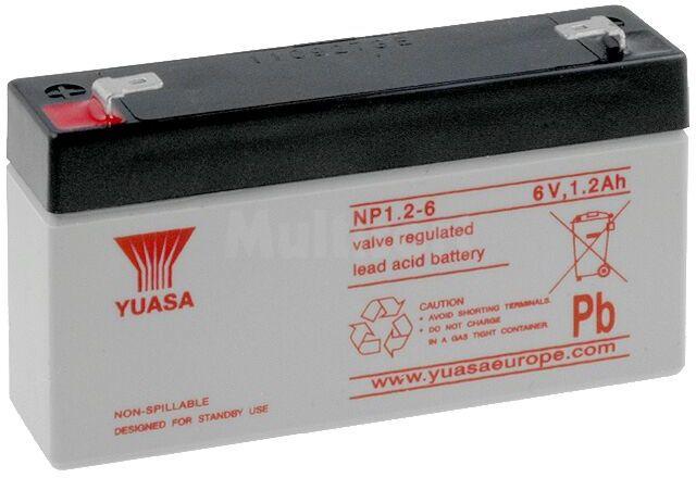 Akumulator kwasowo-ołowiowy YUASA 6V 1,2Ah żywotność 3-5 lat
