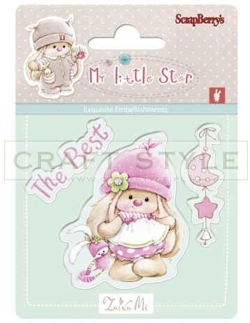 Stempel ScrapBerry s - Bunny My Little Star - Best Bunny