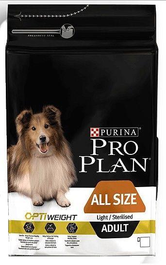 Purina Pro Plan Adult All Size OptiWeight Light/Sterilised 3kg