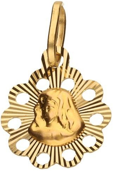 Złoty medalik 333 wypukła Matka Boska 0,58 g