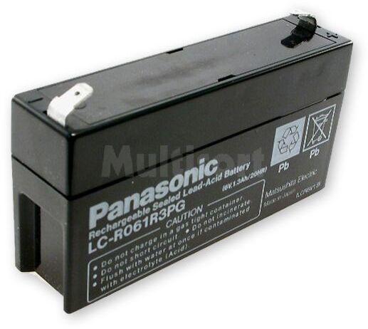 Akumulator kwasowo-ołowiowy PANASONIC 6V 1,3Ah żywotność 6-9 lat