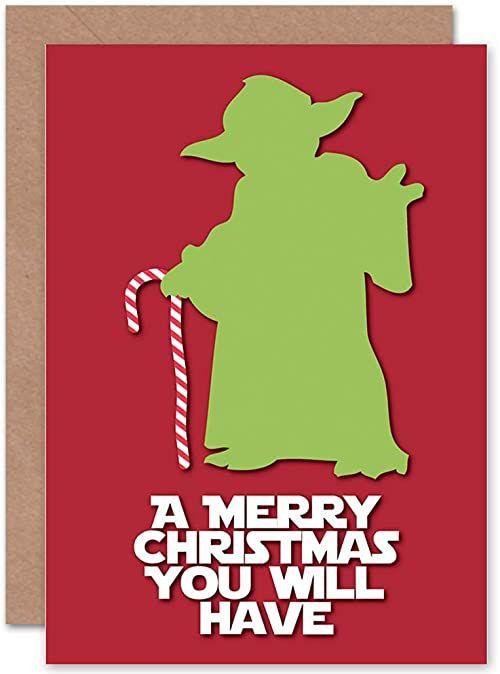 Wee Blue Coo Kartka MERRY Boże Narodzenie Boże Narodzenie Boże Narodzenie zabawny prezent