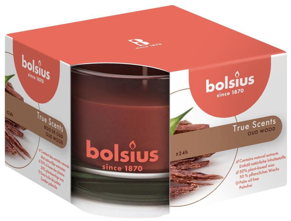 Świeca zapachowa w szkle True Scents drzewo agarowe Bolsius