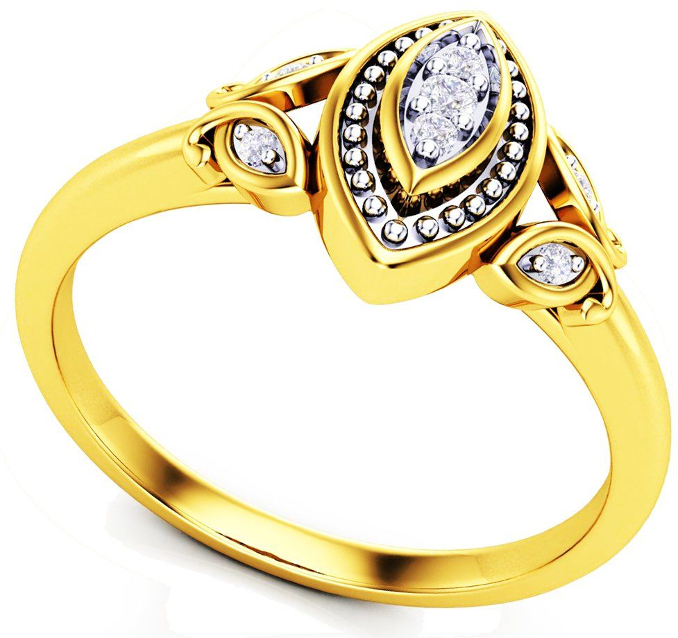 Złoty Pierścionek 375 z Brylantami