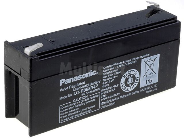 Akumulator kwasowo-ołowiowy PANASONIC 6V 3,4Ah żywotność 6-9 lat