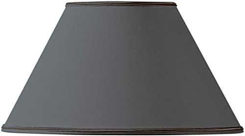 Klosz lampy, kształt wiktoriański, Ø 20 x 09 x 12, czarny