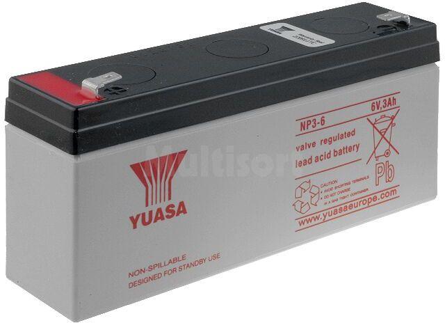 Akumulator kwasowo-ołowiowy YUASA 6V 3Ah żywotność 3-5 lat