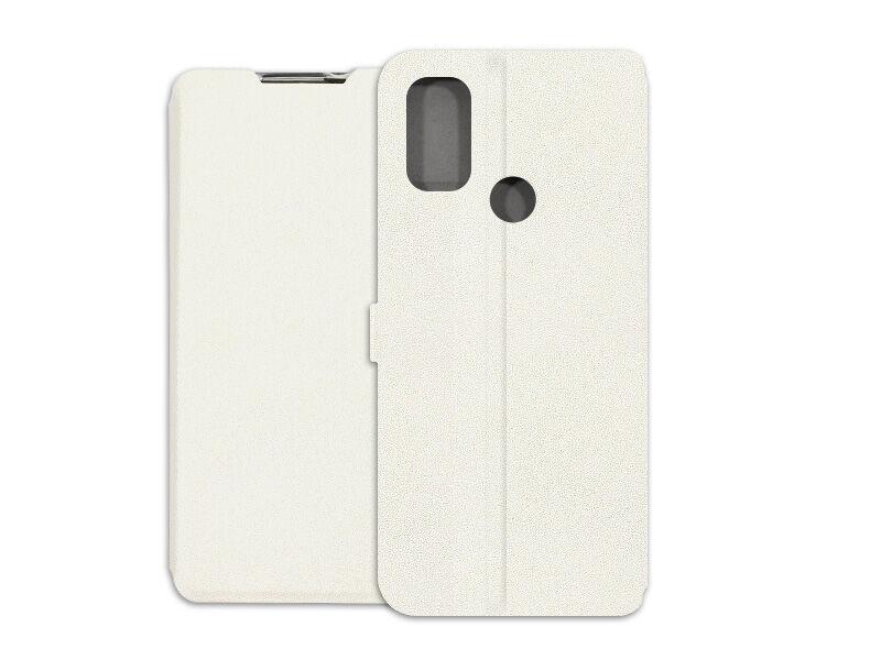 Alcatel 3L (2021) - etui na telefon Wallet Book - biały