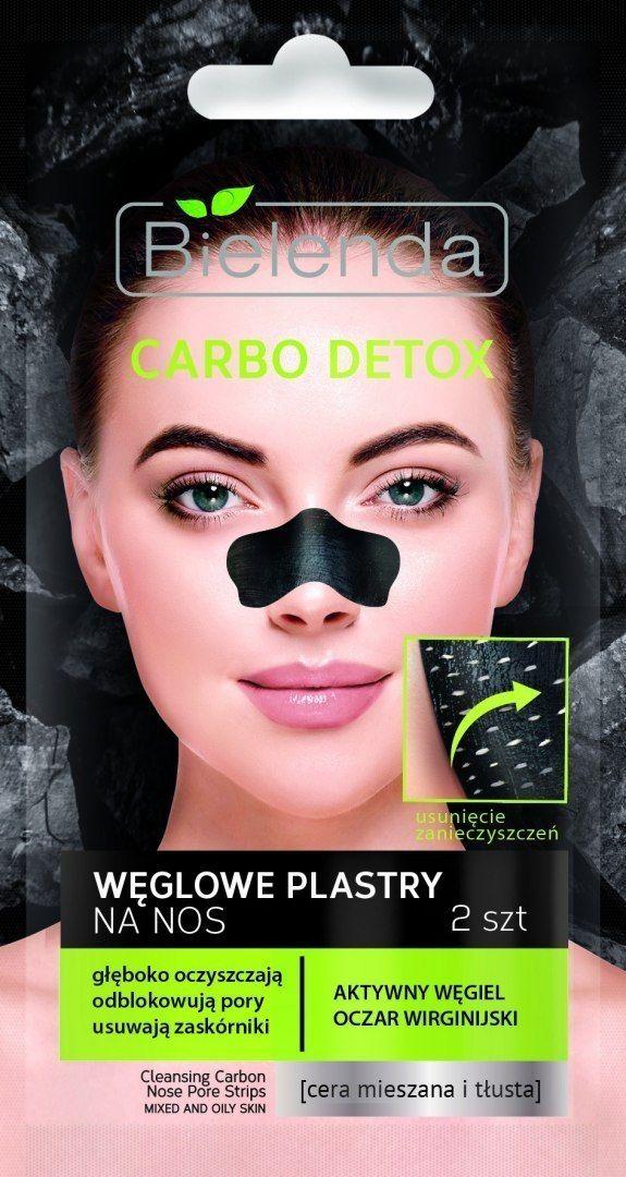 Bielenda Bielenda Carbo Detox Czarny Węgiel Plastry oczyszczające na nos 1op.-2szt