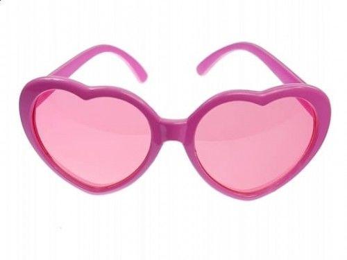 Okulary Serca, różowe