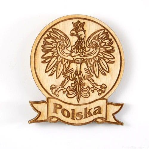 Magnes drewniany okrągły Polska