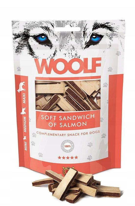 WOOLF - Przysmak soft sandwich salmon 100g