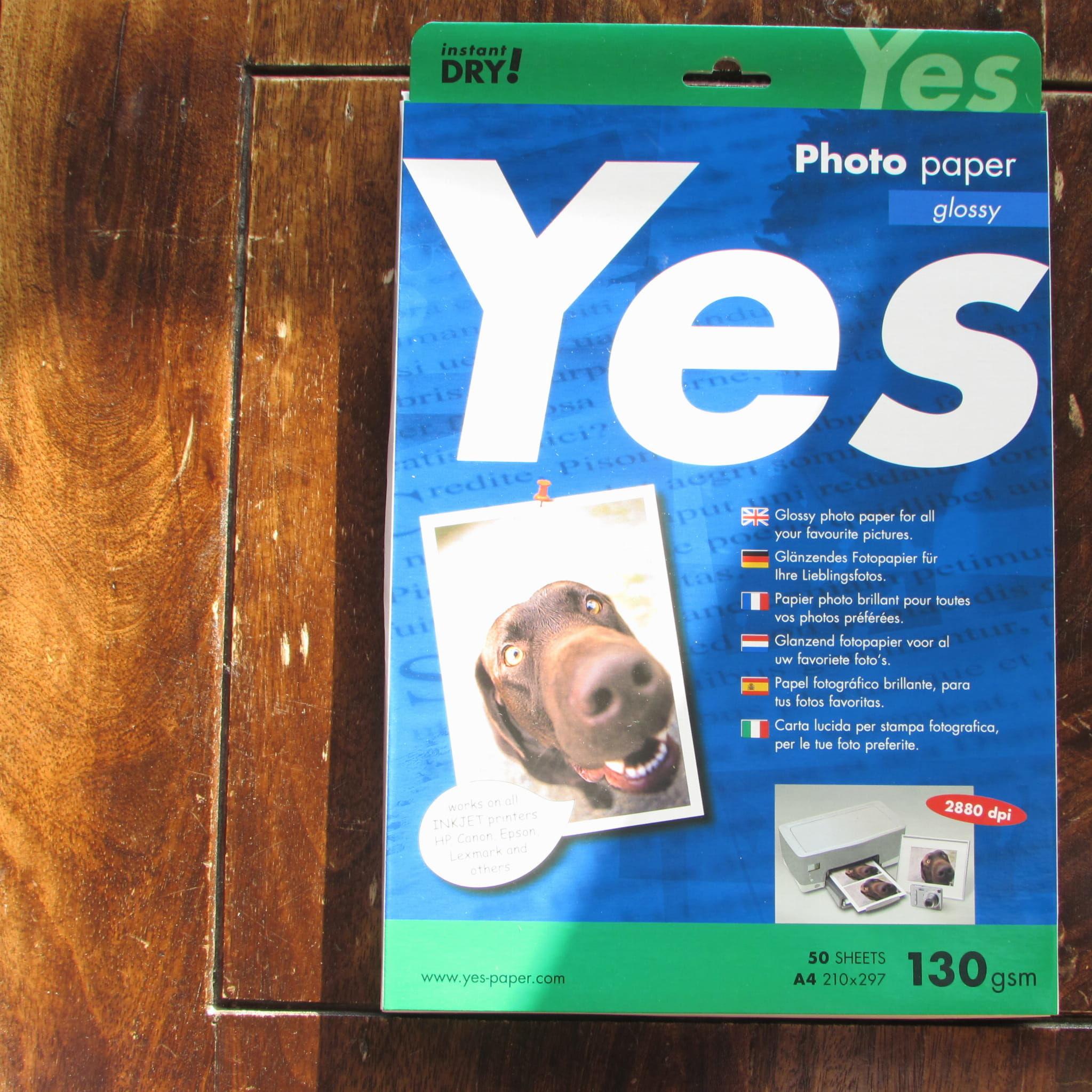 Papier fotograficzny Gloss Yes Photo (biała) 130g A4, w paczce 50ark