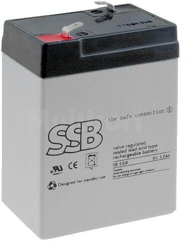 Akumulator kwasowo-ołowiowy SSB 6V 5Ah żywotność 6-9 lat
