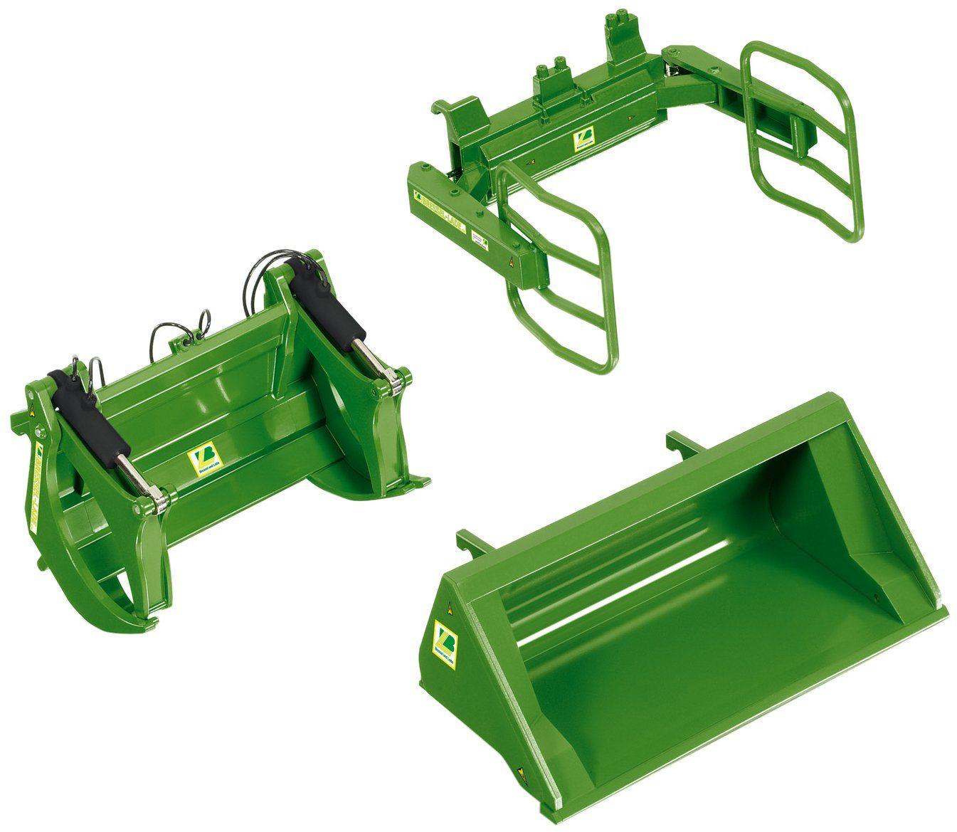 Wiking 7381 - zestaw narzędzi ładowanych od przodu, zielony