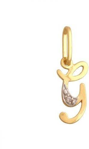 Złota zawieszka Literka Zirkonia 34828